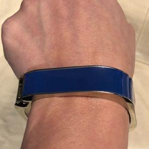 Blue and silver cuff
